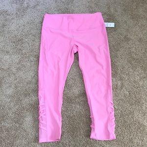NWT! Vogo Athletica large rose active leggings